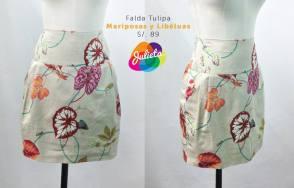 falda tulipa mariposa