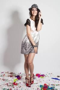 fiesta vestido corto- Vestido Satín