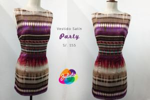 vestido satin party