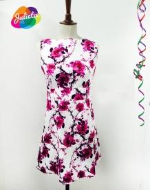 vestidoCAfloresfucsias